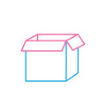 line square box package open design vector image