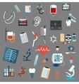 Medical diagnostics testing and equipment vector image