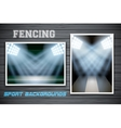 Set Backgrounds of fencing arena and stadium vector image