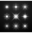 Glowing light effects stars bursts with vector image vector image