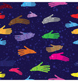 Fish water hand seamless background for Spa vector image vector image