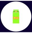Milk box computer symbol vector image