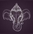 Head of hindu god ganesha vector image