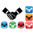 Handshake buttons vector image vector image