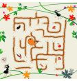 complicated maze vector image