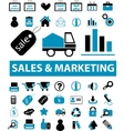 sales marketing signs vector image vector image