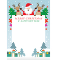Santa Claus and Reindeer Frame vector image vector image