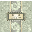 invitation template eastern pattern vector image vector image