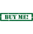 Buy me stamp vector image