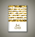 Book cover with glittery design vector image