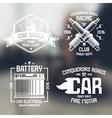 Car repair and racing emblems vector image