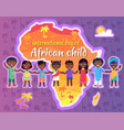international day of african child bright poster vector image