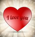 Red Heart on Sunburst Background vector image