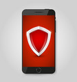 smartphone protection smartphone with shield vector image