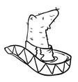 sombrero black vector image