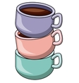 Coffee mug cartoon design vector image