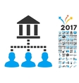 Bank Building Client Links Icon With 2017 Year vector image
