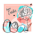 hand drawn abstract creative happy easter vector image