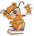 a brown teddy bear with vector image