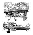 set of passenger airplanes corncob or plane vector image