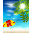 Nice beach vector image vector image