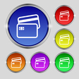 Credit card icon sign Round symbol on bright vector image