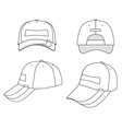 outline cap vector image vector image