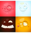 set with cute different emotions vector image