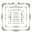 Doodle frame borders vector image vector image