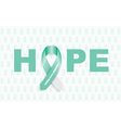 cervical cancer ribbon vector image