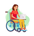 disabled woman person working woman vector image