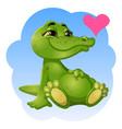 good green crocodile vector image