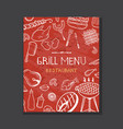 grill menu concept vector image