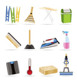 Home objects and tools icons vector image