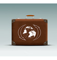 leather suitcase with a tour sticker vector image