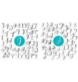 set letters i j hand drawn flourish vector image