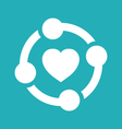 Unity Heart Graphic vector image