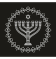 Hanukkah holiday background with menorah vector image
