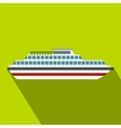 Cruise ship icon flat style vector image