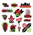 Sale badge stickers percent discount symbols vector image