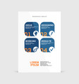 corporate design of paper flyer or brochure cover vector image vector image