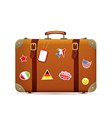 Isolated suitcase vector image