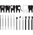 Dentistry tools vector image vector image