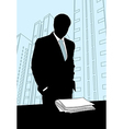 Businessmen Office silhouette vector image vector image