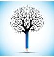 pencil tree color bulb vector image
