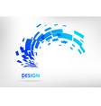 Abstract geometric element on a white background vector image