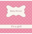 Background with stars baby shower vector image