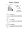 business efficiency statistics vector image
