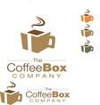 cofee box logo vector image
