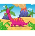 dinosaur cartoon vector image